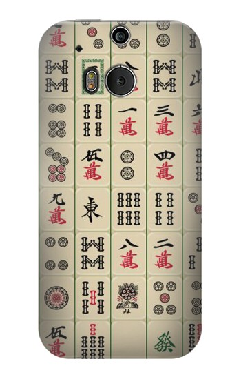 Printed Mahjong HTC One M8 Case