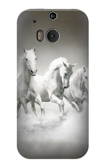 Printed White Horses HTC One M8 Case