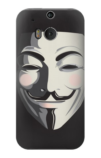 Printed Anonymous V Mask Guy Fawkes HTC One M8 Case