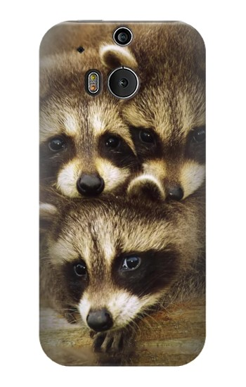Printed Baby Raccoons HTC One M8 Case