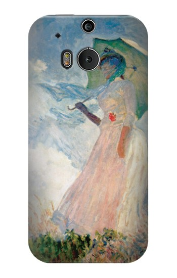 Printed Claude Monet Woman with a Parasol HTC One M8 Case