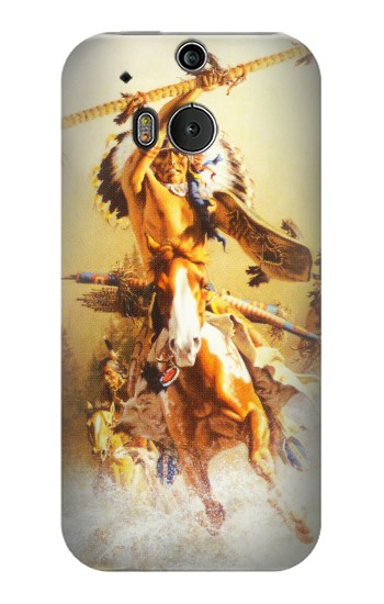 Printed Red Indian Warrior HTC One M8 Case