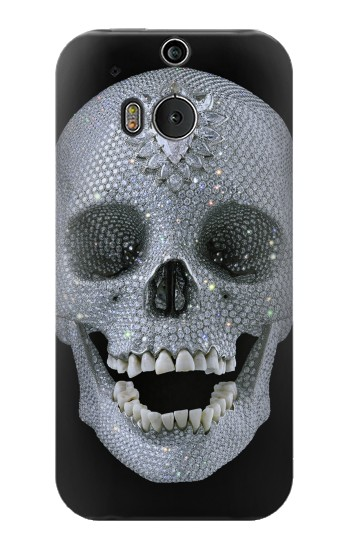 Printed Diamond Skull HTC One M8 Case