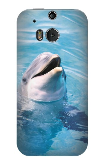 Printed Dolphin HTC One M8 Case