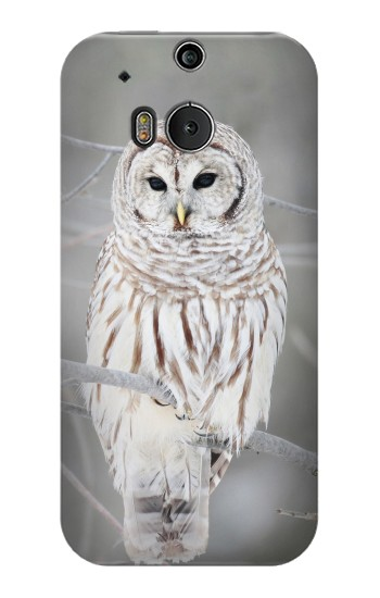 Printed Snowy Owl White Owl HTC One M8 Case