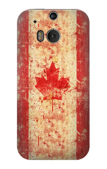 Printed Canada Flag Old Vintage HTC One M8 Case