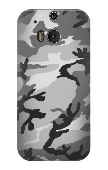 Printed Snow Camo Camouflage Graphic Printed HTC One M8 Case