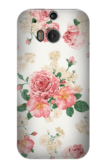 Printed Rose Pattern HTC One M8 Case
