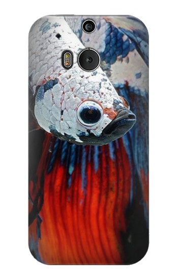 Printed Siamese Fighting Fish HTC One M8 Case