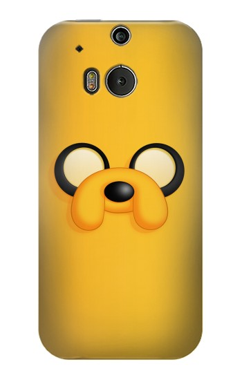 Printed Adventure Time Jake Face HTC One M8 Case