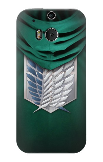 Printed Attack on Titan Scouting Legion Rivaille Green Cloak HTC One M8 Case