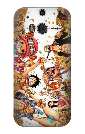 Printed One Piece Straw Hat Luffy Pirate Crew HTC One M8 Case