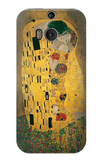 Printed Gustav Klimt The Kiss HTC One M8 Case