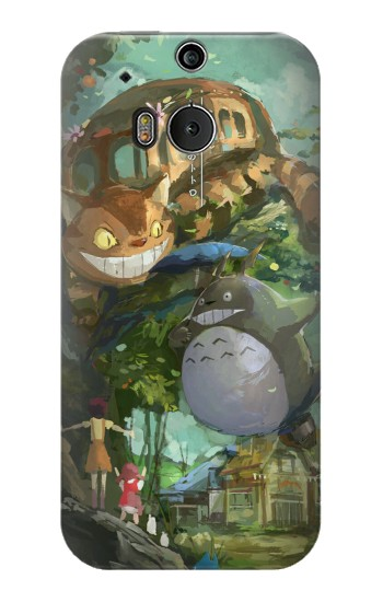 Printed My Neighbor Totoro Cat Bus HTC One M8 Case