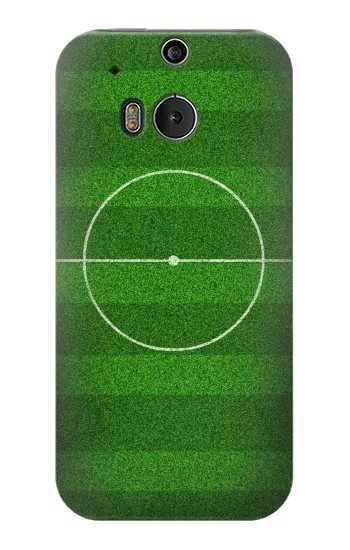 Printed Football Soccer Field HTC One M8 Case