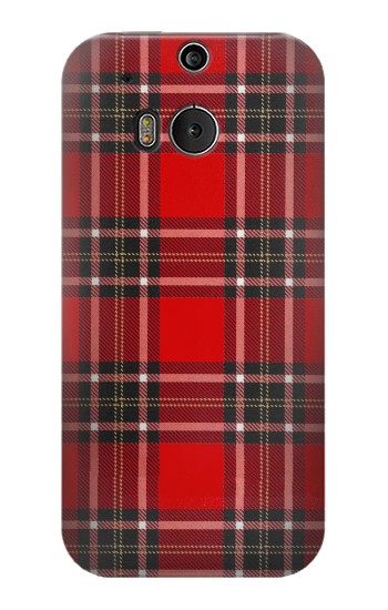 Printed Tartan Red Pattern HTC One M8 Case