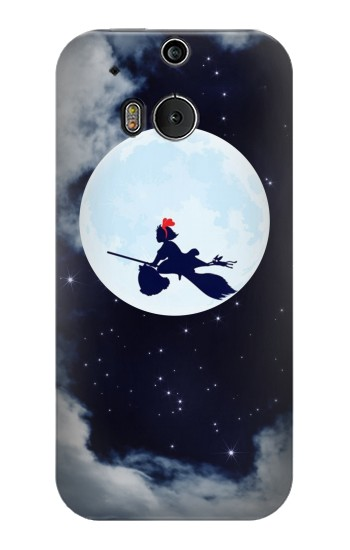 Printed Kiki Delivery Service Little Witch Kiki Moon HTC One M8 Case