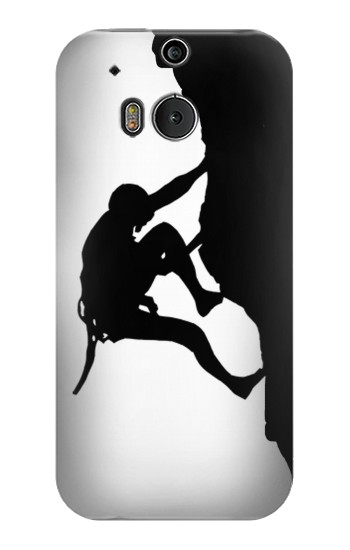 Printed Mountain Climber Climbing HTC One M8 Case