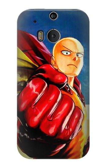 Printed Saitama One Punch Man HTC One M8 Case