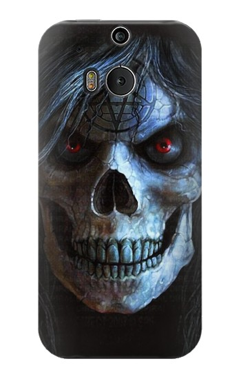 Printed Evil Death Skull HTC One M8 Case