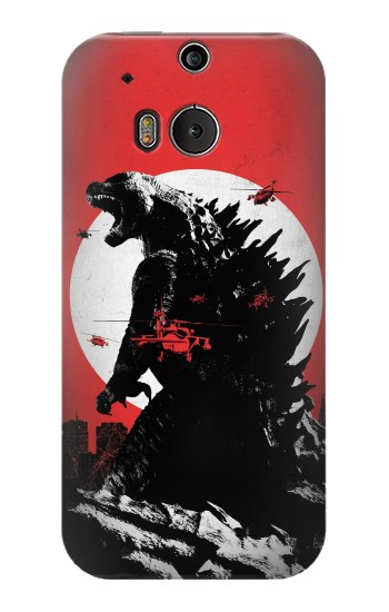 Printed Godzilla Japan Flag HTC One M8 Case