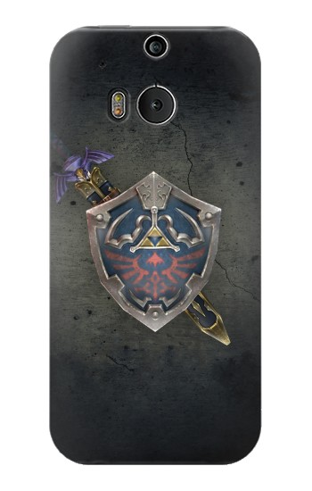 Printed Legend of Zelda Shield HTC One M8 Case
