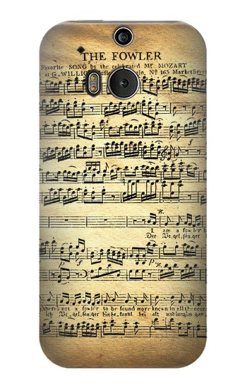 Printed The Fowler Mozart Music Sheet HTC One M8 Case