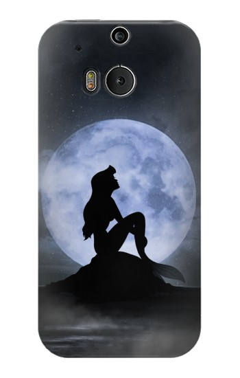 Printed Mermaid Moon Night HTC One M8 Case