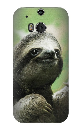 Printed Smiling Sloth HTC One M8 Case