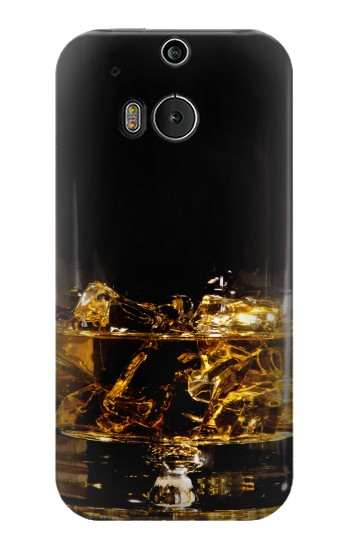 Printed Ice Whiskey Glass HTC One M8 Case