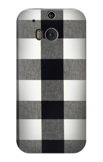 Printed Black and White Buffalo Check Pattern HTC One M8 Case