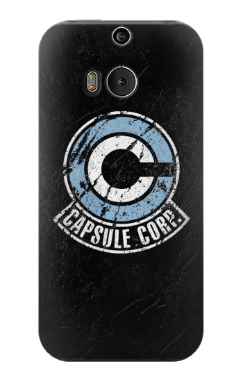 Printed Dragon Ball Capsule Corporation Black Rock HTC One M8 Case