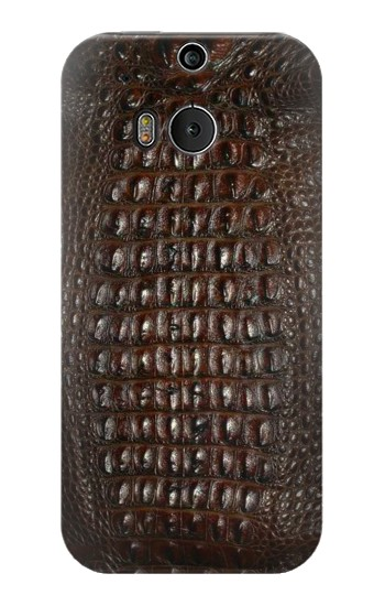Printed Brown Skin Alligator Graphic Printed HTC One M8 Case