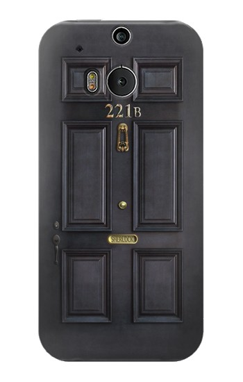 Printed Sherlock Holmes Black Door 221B HTC One M8 Case