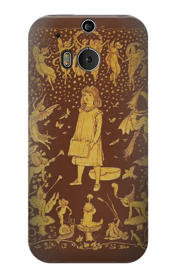 Printed Brown Fairy Book Cover HTC One M8 Case