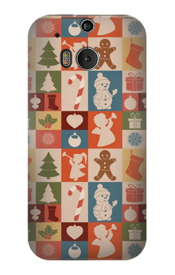 Printed Cute Xmas Pattern HTC One M8 Case
