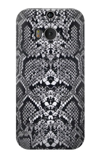 Printed White Rattle Snake Skin HTC One M8 Case