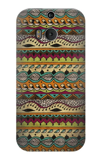 Printed Aztec Boho Hippie Pattern HTC One M8 Case