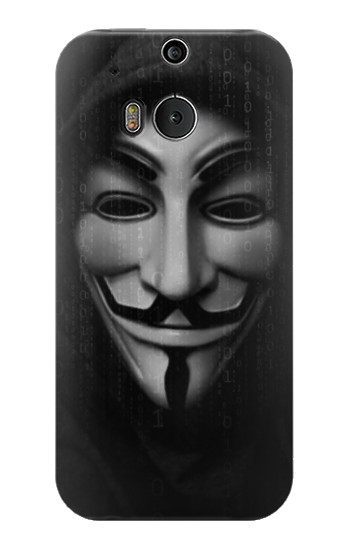 Printed Matrix Anonymous Mask Hacker HTC One M8 Case
