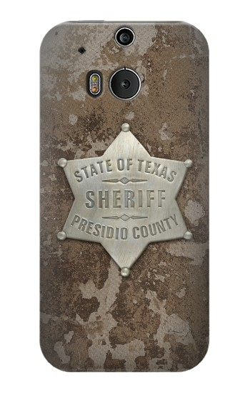 Printed Texas Presidio County Sheriff Badge HTC One M8 Case