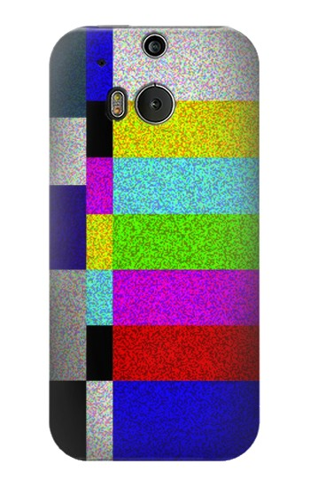 Printed Noise Signal TV HTC One M8 Case