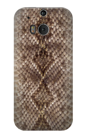 Printed Rattle Snake Skin HTC One M8 Case