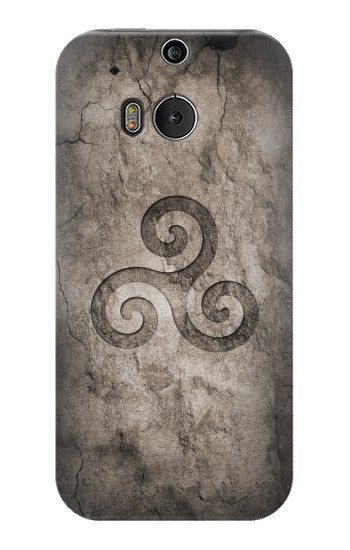 Printed Triskele Symbol Stone Texture HTC One M8 Case