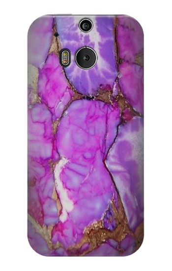Printed Purple Turquoise Stone HTC One M8 Case