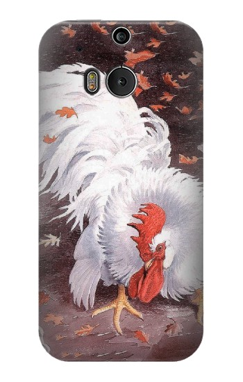 Printed Leghorn Cockerel Rooster HTC One M8 Case