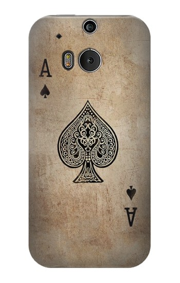 Printed Vintage Spades Ace Card HTC One M8 Case