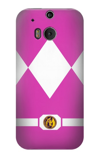 Printed Ladies Pink Mighty Morphin Power Ranger Minimalist HTC One M8 Case