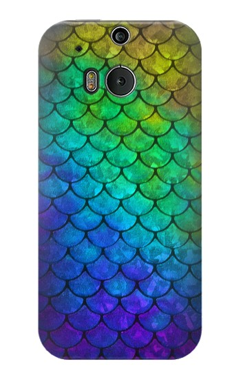 Printed Mermaid Fish Scale HTC One M8 Case
