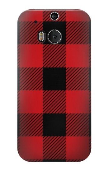 Printed Red Buffalo Check Pattern HTC One M8 Case
