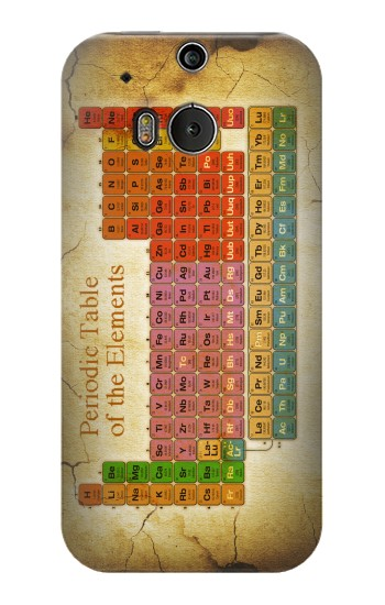 Printed Vintage Periodic Table of Elements HTC One M8 Case